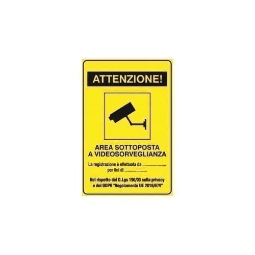 """Adesivo """"AREA VIDEOSORVEGLIATA"""" - GBC"""