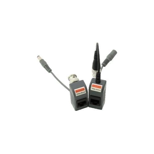Coppia Balun per trasmissione video + alimentazione su cavo Ethernet - GBC