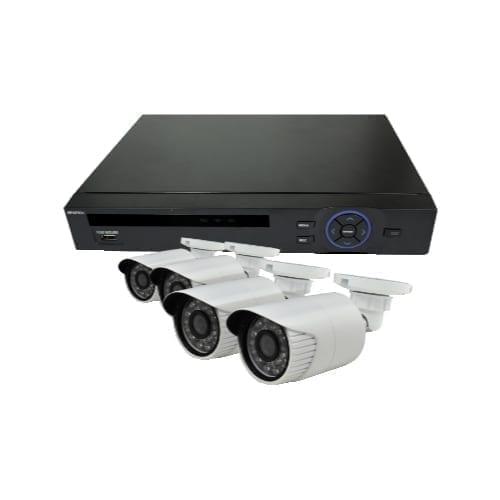 Kit NVR 4CH POE + 4 telecamere alta definizione 1mpx 270P con internet ONE-CLICK - GBC