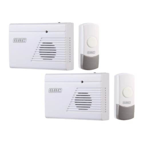 Kit 2 campanelli wireless con pulsanti IP44