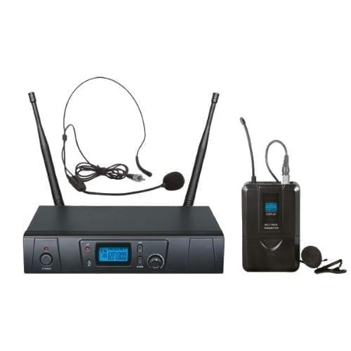 Set radiomicrofono ad archetto UHF 16 ch Zzipp