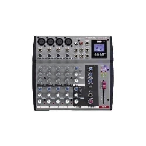 Mixer 6 canali con effetti e lettore USB Phonic