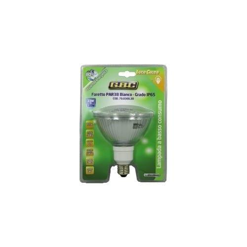 Faretto PAR38 bianca luce calda 23W basso consumo GBC