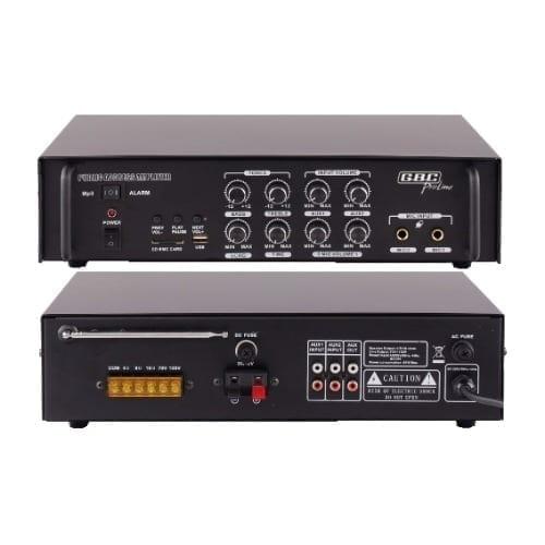 Amplificatore PA 100V 50W AC / DC GBC