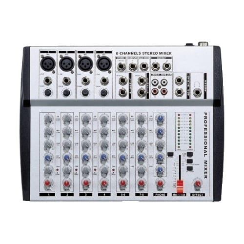 Mixer microfonico a 8 canali con echo GBC