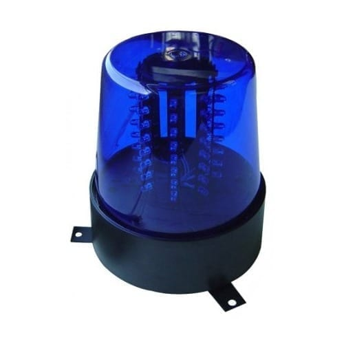 Lampegiante polizia blu 12V/220V Wentronic