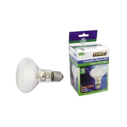 Lampada alogena R80 105W E27 GBC