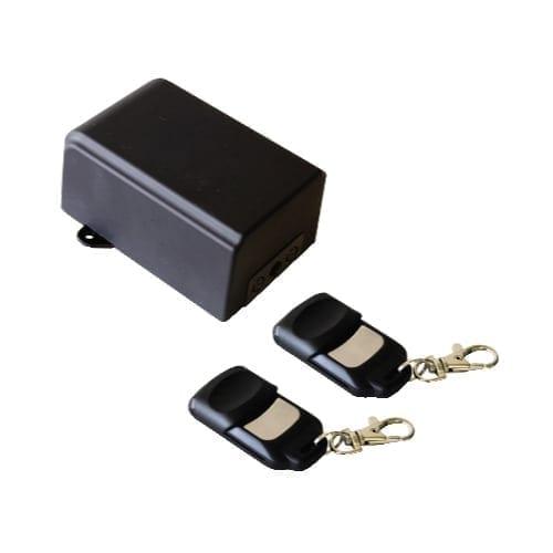 Kit ricevitore 220V da esterno + 2 radiocomandi 2 canali a 433 MHZ