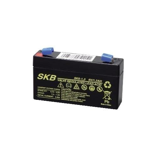 batterie al Piombo ricaricabile 6 V 1,3h SKB