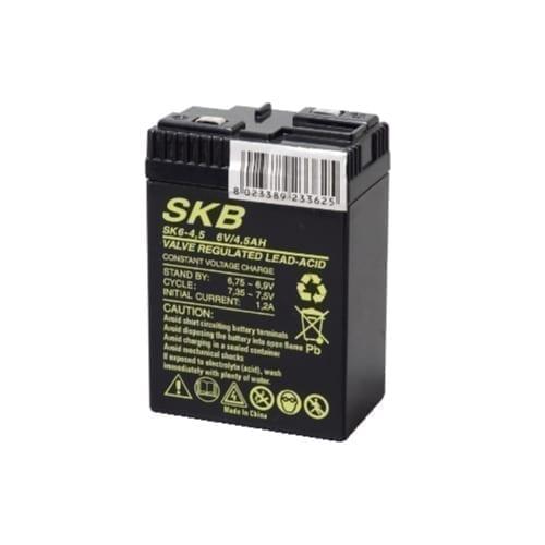 Batteria al piombo ricaricabile 6V 4,5 Ah SKB