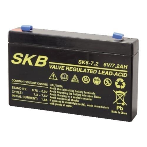 Batteria al piombo ricaricabile 6V 7,2AH SKB