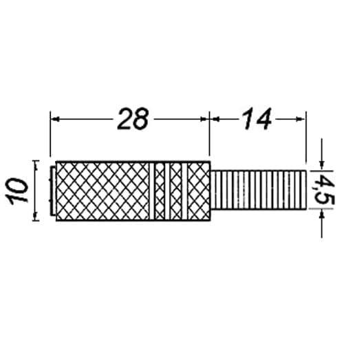Presa jack 3,5 mm mono dorata GBC