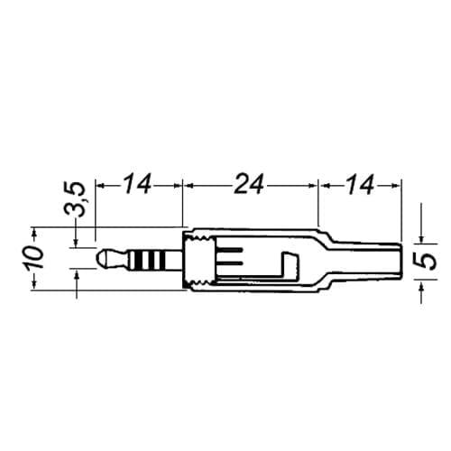 Spina jack 3,5 mm 4 poli GBC