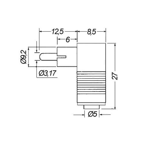 Spina RCA 90° GBC