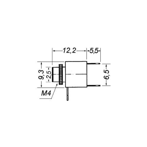 Presa jack 2,5 mm mono da pannello GBC