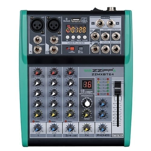 Mixer compatto 4 canali DSP Bluetooth Monacor