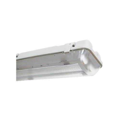 Plafoniera stagna 60 cm IP65 per 2 tubi LED (non inclusi) GBC