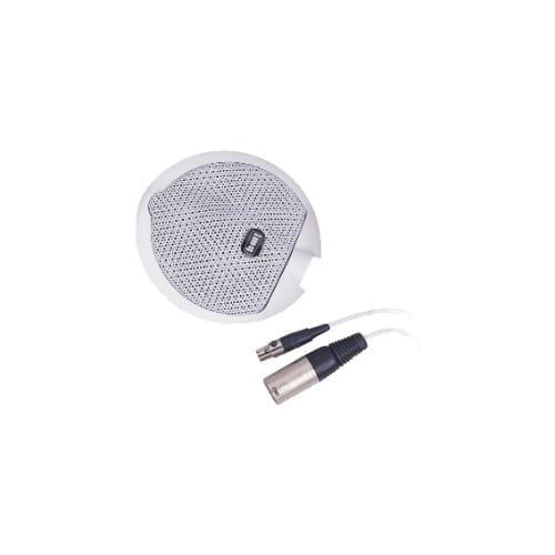 """Microfono piatto da tavolo tipo """"Electret"""" bianco GBC"""
