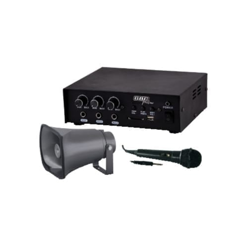 Kit amplificatore 30W con MP3 / tromba / microfono - GBC