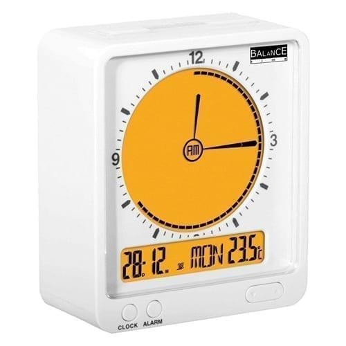 Orologio sveglia arancione - bianco Nedis