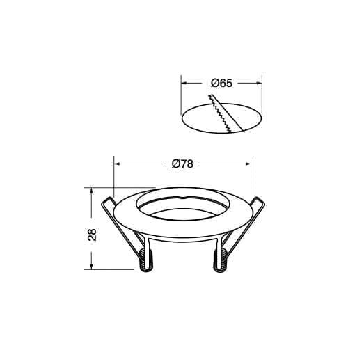 Ghiera fissa alluminio Elcart
