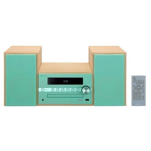 Microsistema Hi-Fi 2.1 Pioneer X-CM56D 30W verde tiffany