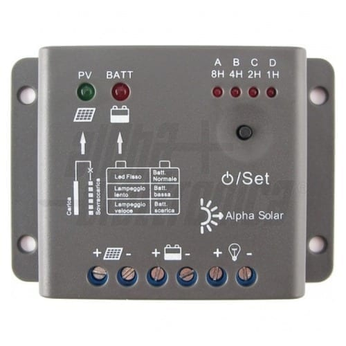 Regolatore di carica per pannelli solari 5A Alpha Elettronica