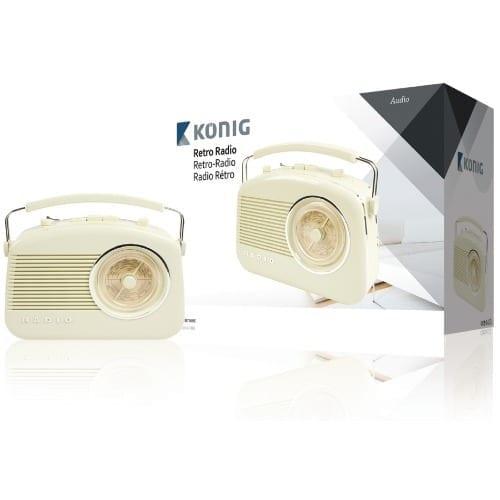 Radio Stile retro AM / FM color avorio Konig
