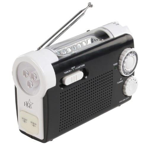 Radio torcia AM / FM con ricarica a mano Nedis