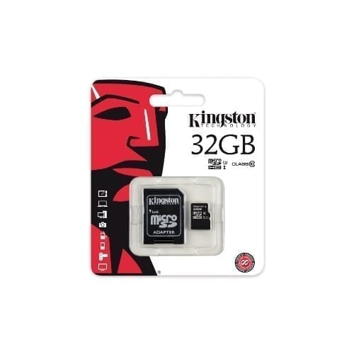 Micro SDHC Kingston con adattatore 32GB