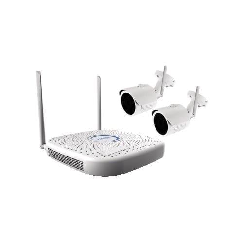 Kit NVR wifi 4 ch + 2 telecamere
