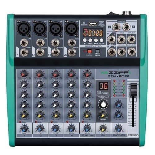 Mixer Zzipp 6 canali con effetti