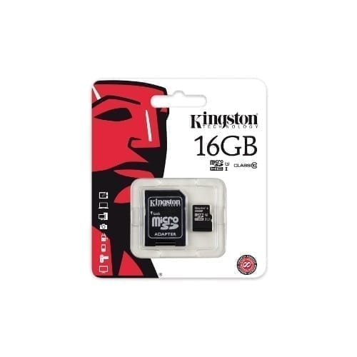 Micro SDHC Kingston con adattatore 16GB