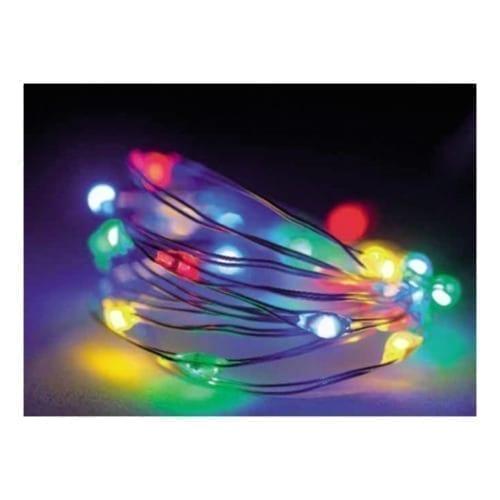 Catena 120 micro led lampeggianti multicolor 6m con memory controller - GBC