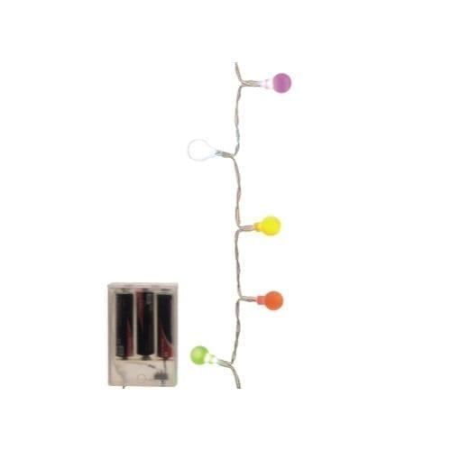 Catena 20 LED mini ciliegia multicolor 100cm a batteria uso interno - GBC