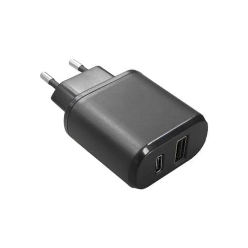 Adattatore da rete 220 - USB + USB TypeC 5V 3A Alca Power
