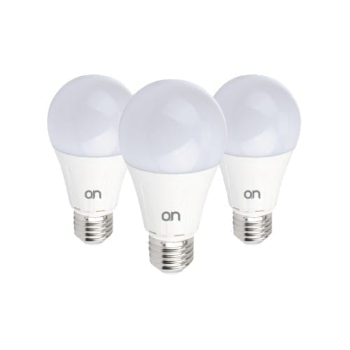 Kit 3 lampade E27 12W luce naturale ON