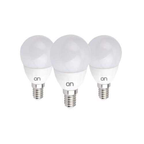 Kit 3 lampadine mini goccia E14 6W luce calda