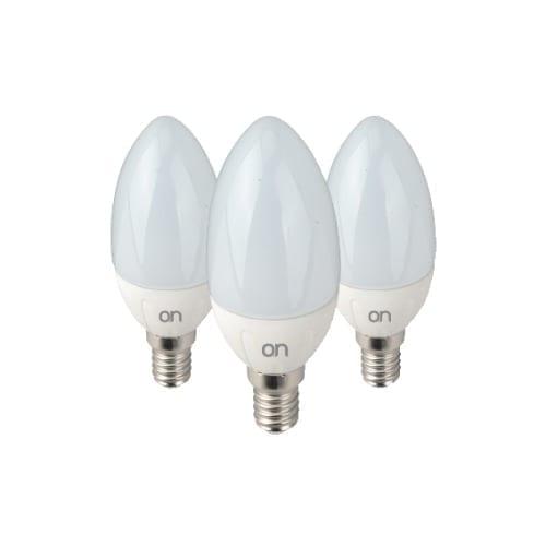 Kit 3 oliva LED 6W E14 luce naturale GBC