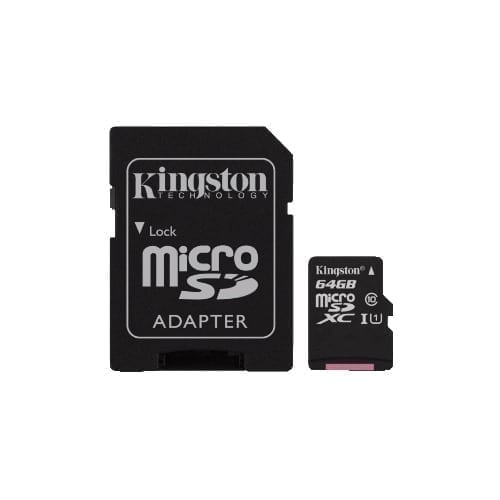 Micro SDHC Kingston con adattatore 64GB