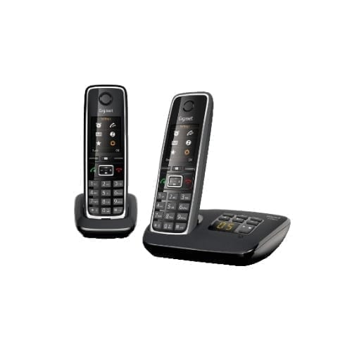 Telefoni Cordless Gigaset Duo C530+C530A Nero