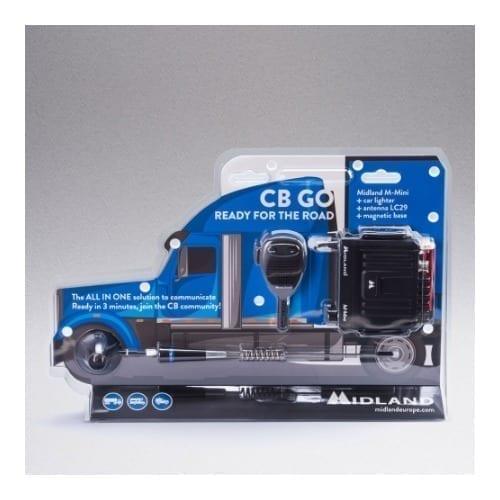 CB GO Ricetrasmettitore M- Mini + antenna LC29 + base magnetica Midland