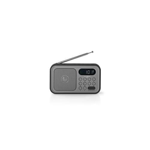 Radio / sveglia 2,1W Nedis grigio