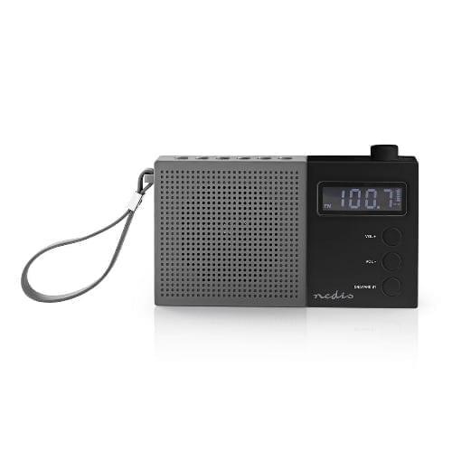 Radio / sveglia 2,1W Nedis nero
