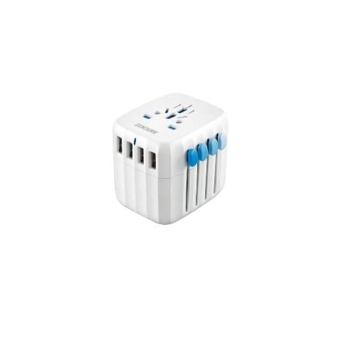 Zendure Adattatore universale da Viaggio con 4 porte USB