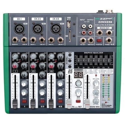 Mixer compatto 5 canale con DSP e bluetooth MXE5B