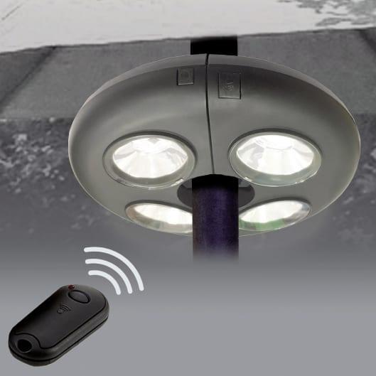 """""""Ufo"""" Luce 12 LED x ombrellone a batterie con telecomando"""