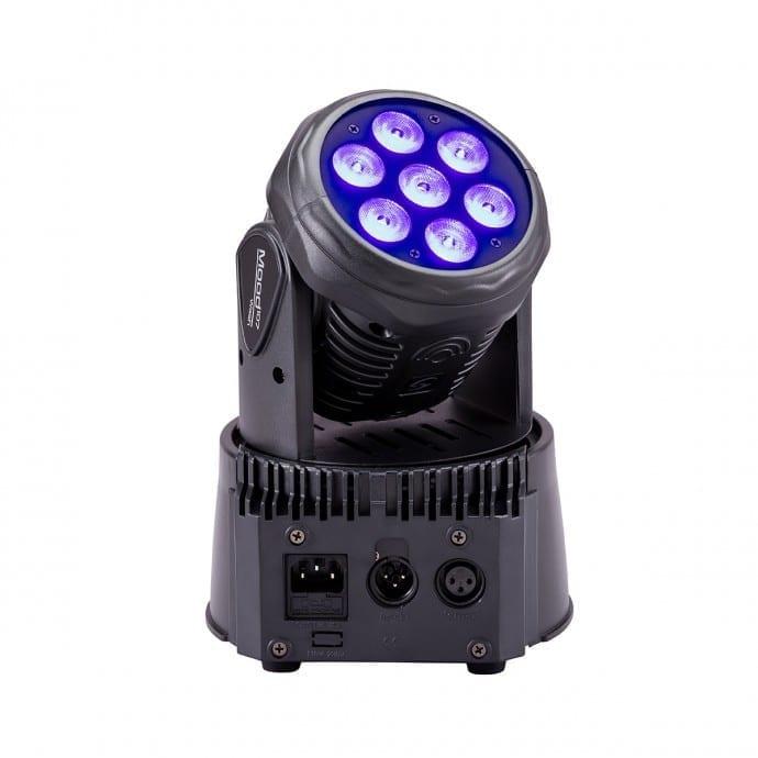 Testa mobile LED Soundsation Mood 107 7x10W 4in1