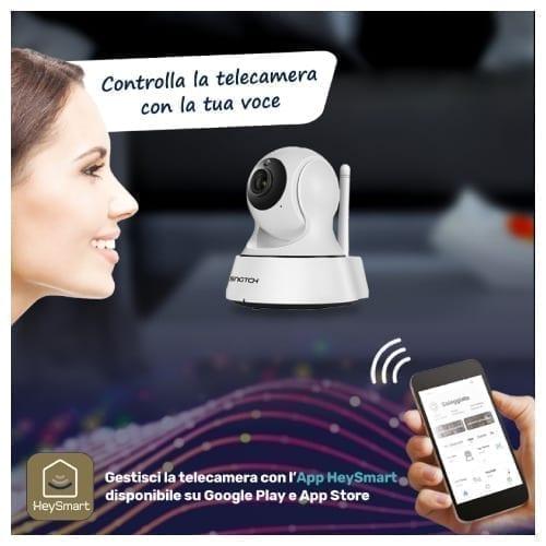 Telecamera IP Full HD Wi-Fi motorizzata compatibile Google Home / Alexa
