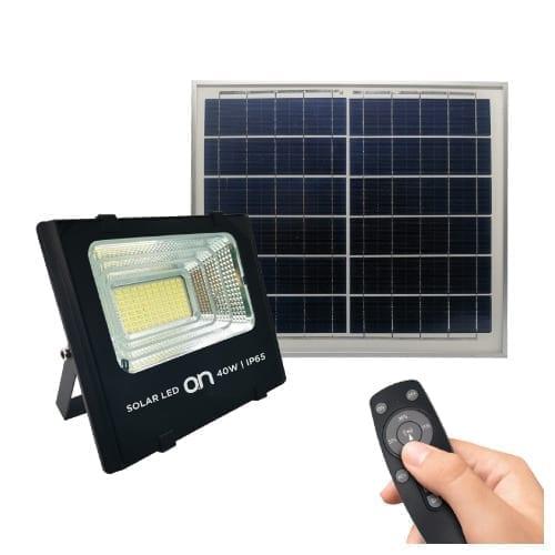 Faro LED 40W IP65 luce naturale con pannello solare